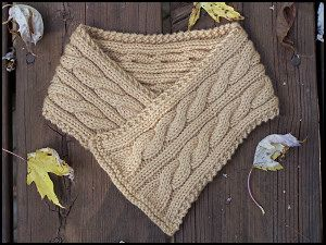 Cabled Neck Warmer by SeventyKay, via Flickr