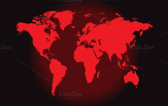 World map red vector gumiabroncs Choice Image