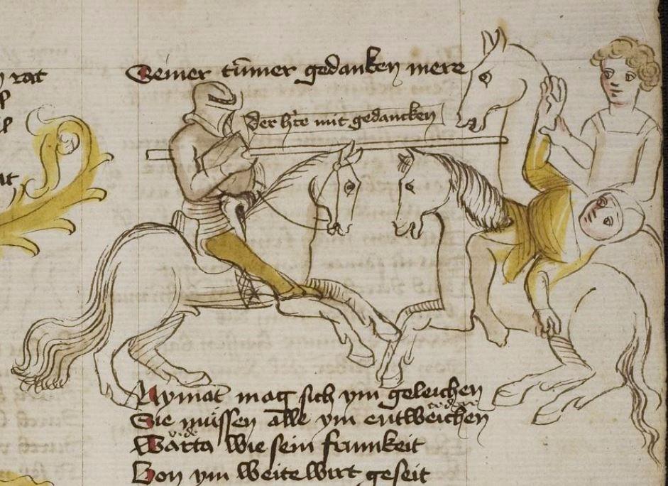 Thomasin <Circlaere>   Welscher Gast (b) Nordbayern (Eichstätt?), um 1420 Cod. Pal. germ. 330 Folio 33r