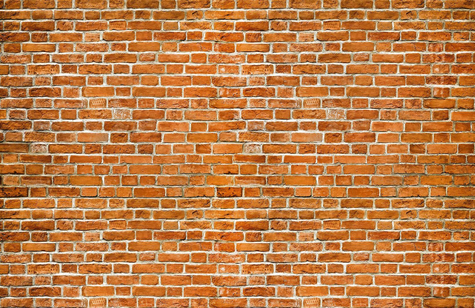 Einfaches hausdesign 2018 orange brick wallpaper wall mural  muralswallpaper