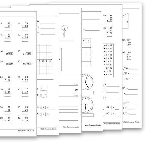 Math Resource Studio Workshet Math Resources Homeschool Math Math