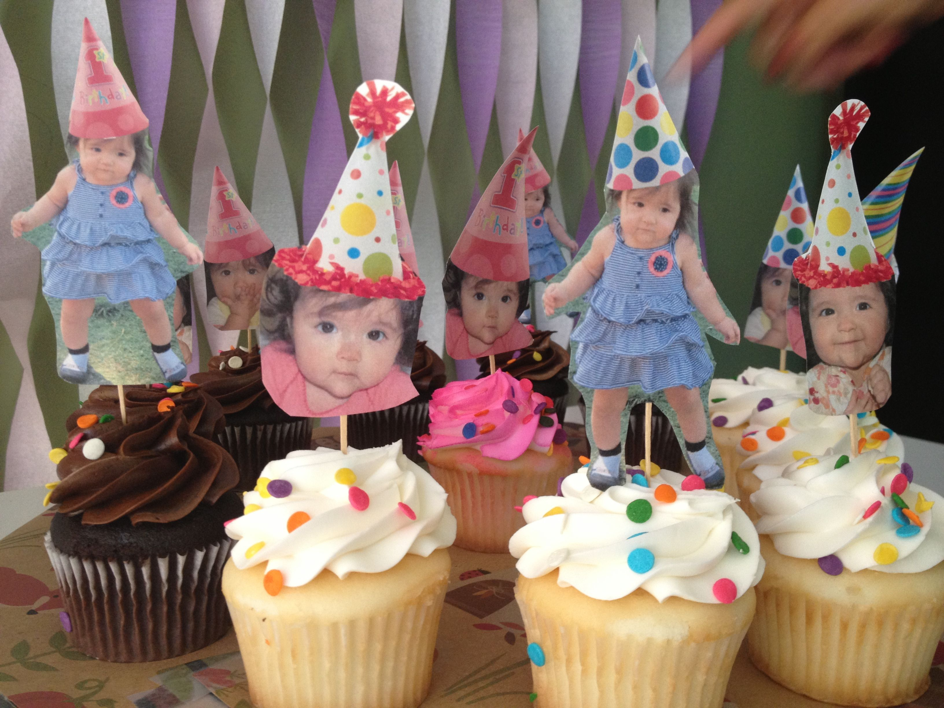 Diy Cupcake Toppers For Baby Girl First Birthday Party Owl Themed
