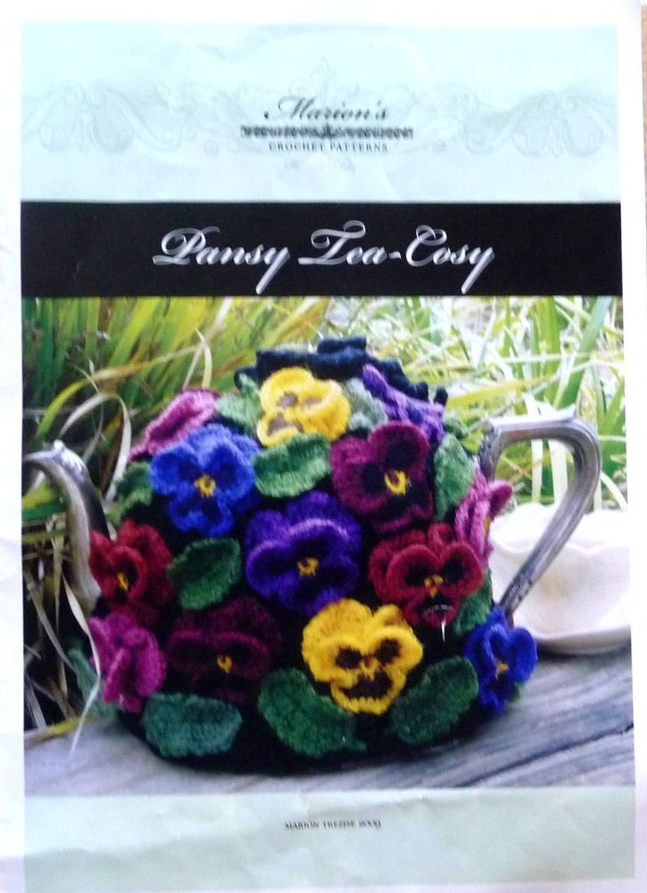 Tea Cosy Or Coffee Pot Knitting Crochet Leaflet From Marion Trezise