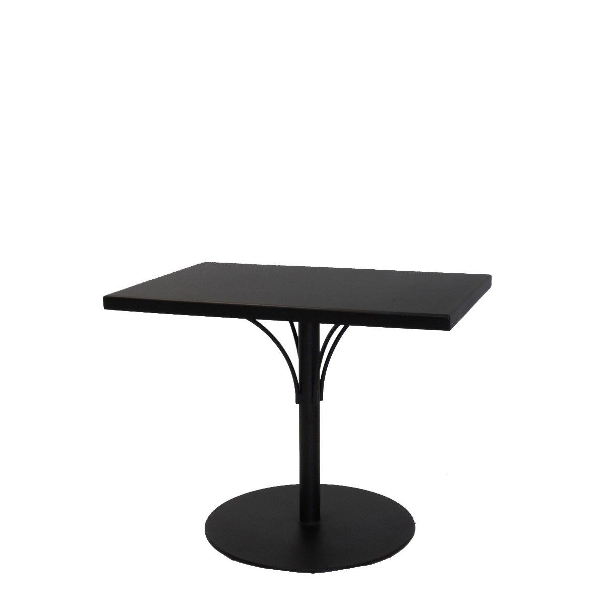 Aluminum Solid Top 24 X 36 Dining Table With Pedestal Base