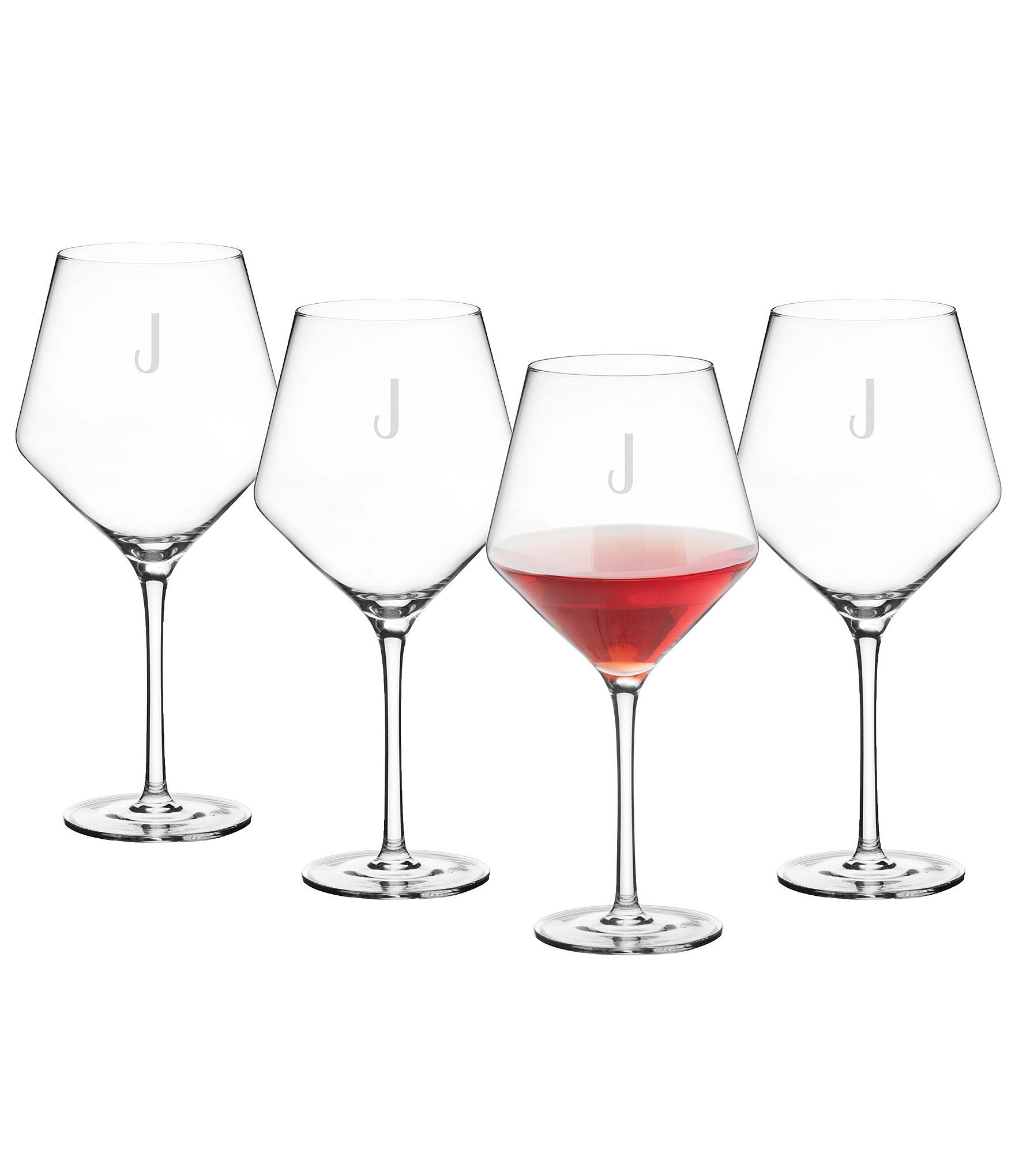 Cathy S Concepts Initial Red Wine Estate Glass Set Of 4 N A N A