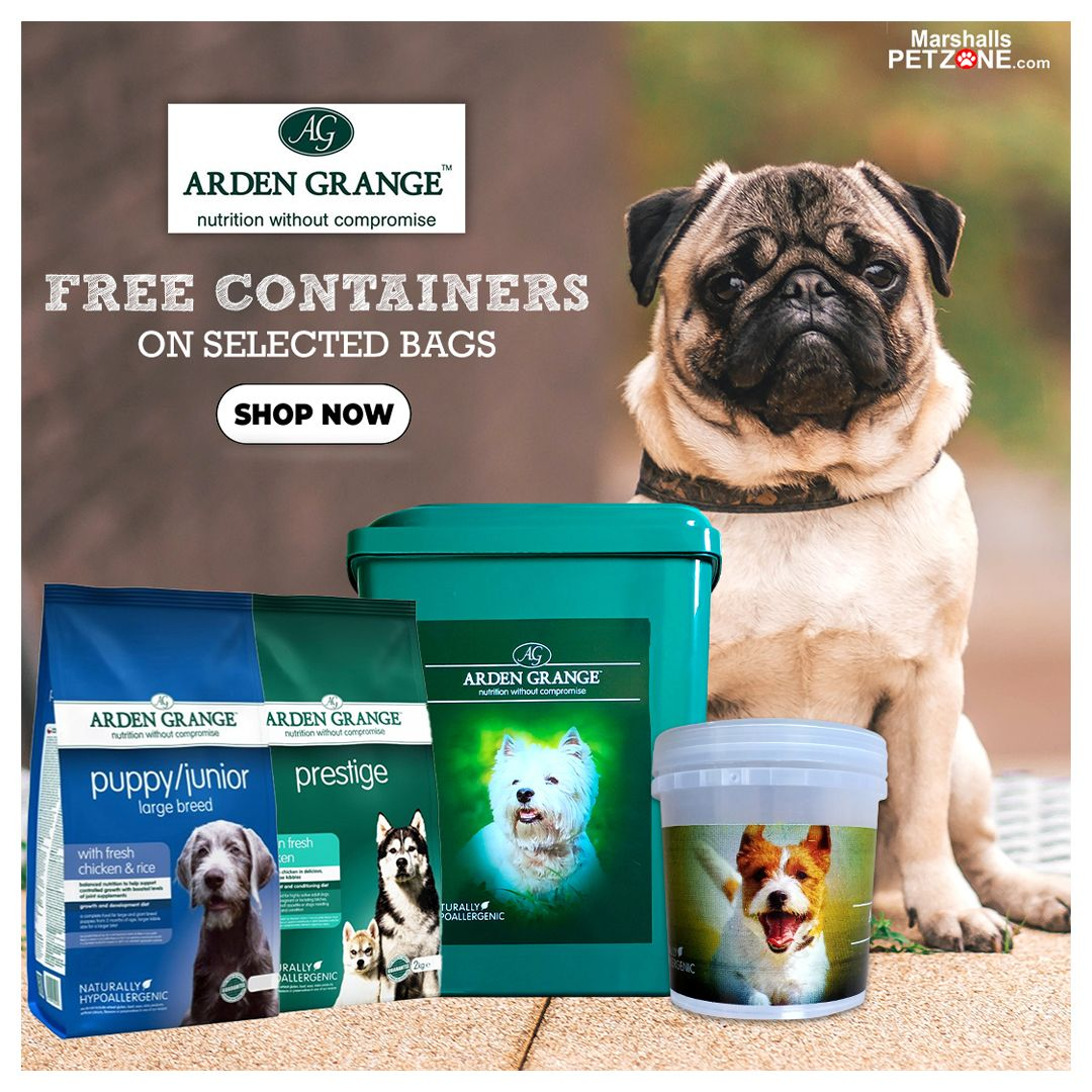 Get A Container Free With Select Arden Grange Dog Food Packs