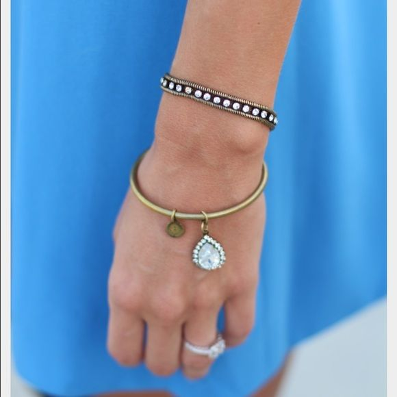 Loren Hope Bracelet Bangle With Crystal Teardrop 2 5 Inside Diameter Antiques Br In Great Condition Sold Out Online