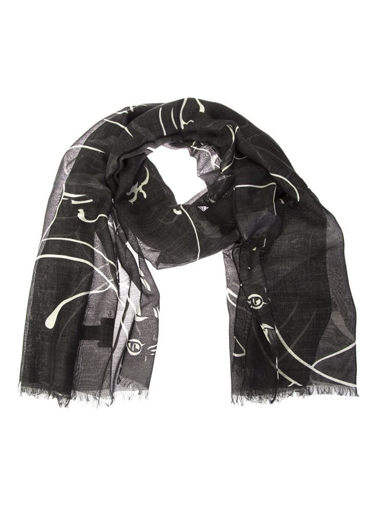 Printed cashmere and silk scarf Valentino 5mo45pK