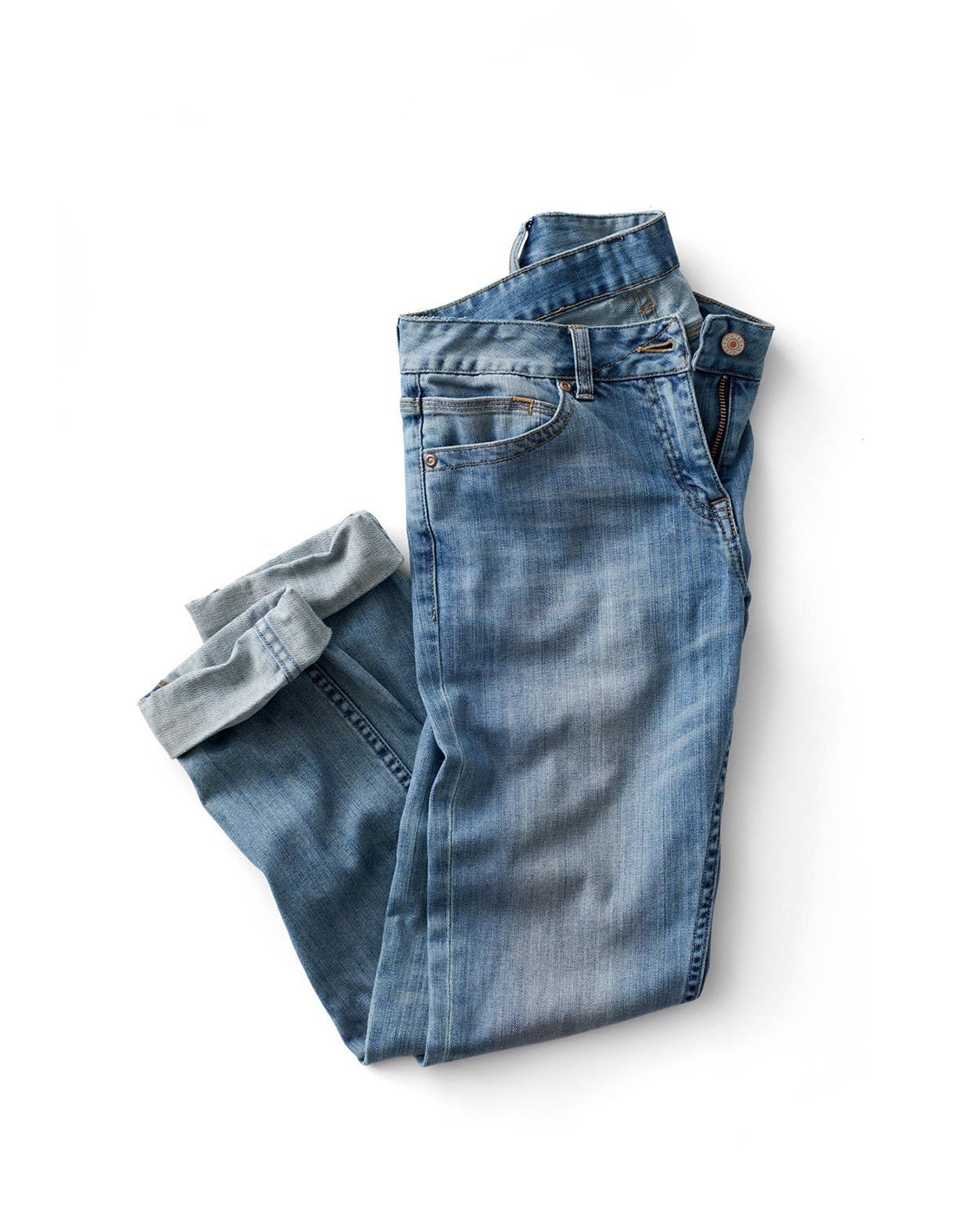 folded denim jeans | Denim, leather & Tees | Denim flats ...