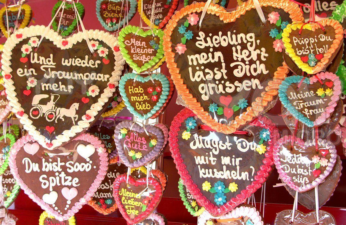 German gingerbread hearts #lebkuchen | Comida alemana, Galletas corazon, Galletas