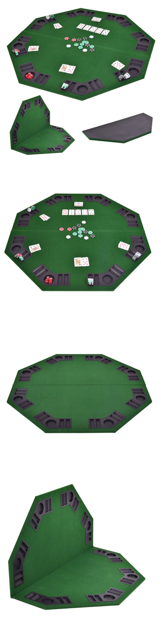 Card Tables And Tabletops 166572 Large 8 Players Round Table Texas Foldable Topper Mat