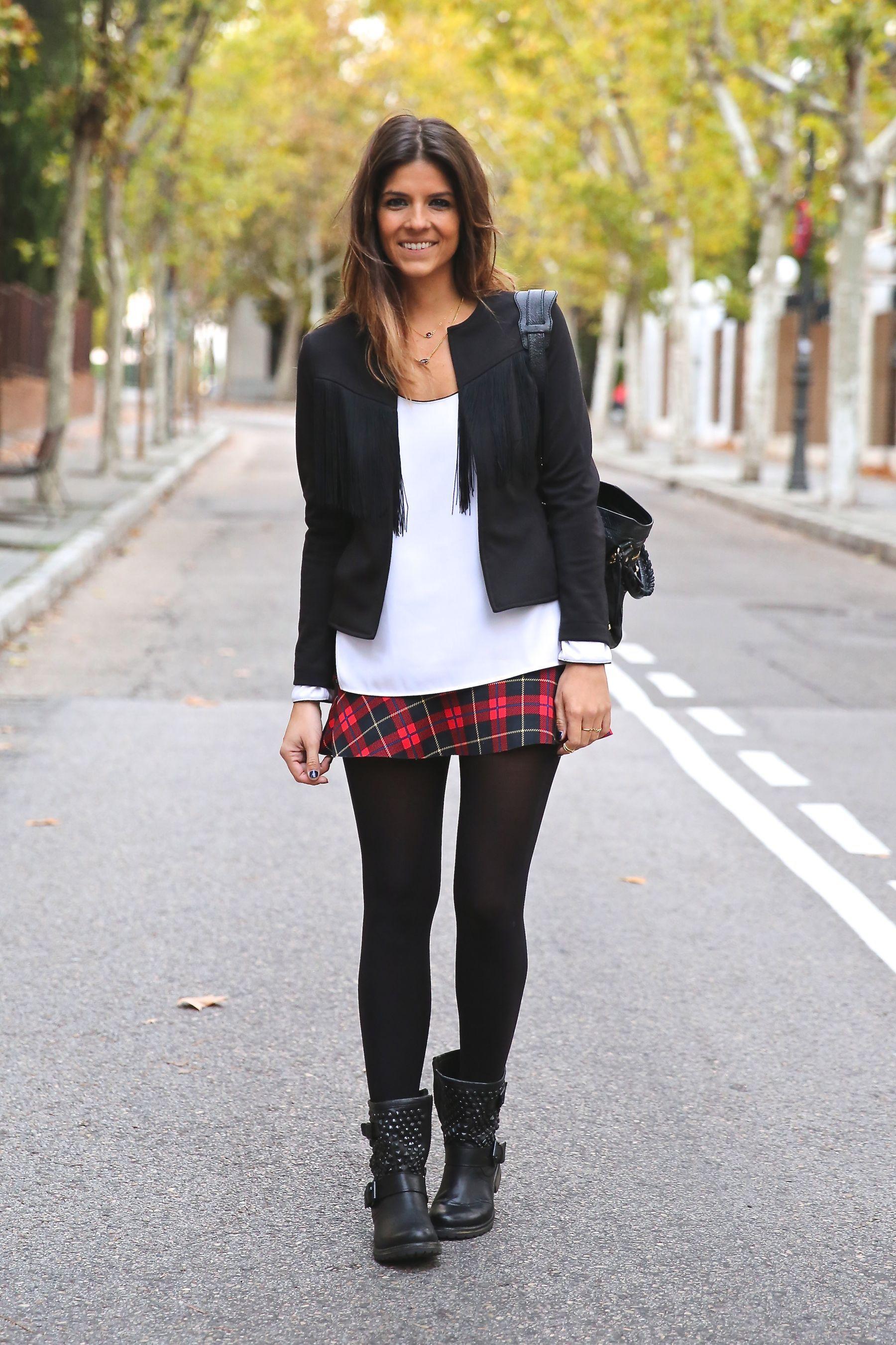 Chaqueta/Jacket: Coosy Blusa/Blouse: Zara Falda/Skirt: Zara Botas