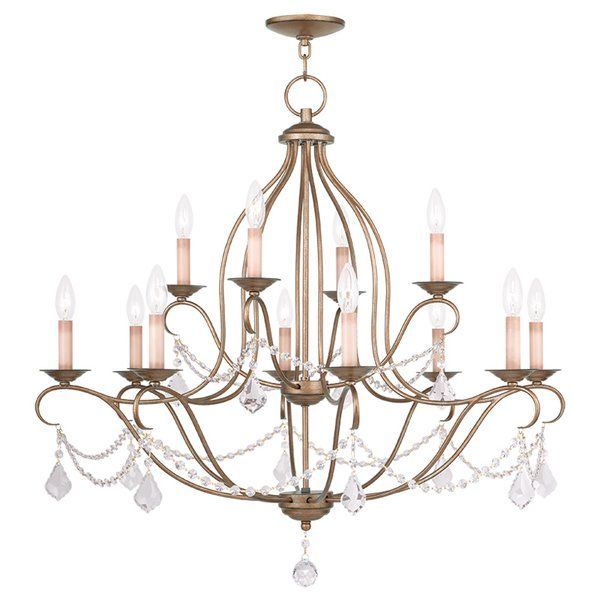 Astoria grand bayfront 12 light crystal chandelier reviews wayfair
