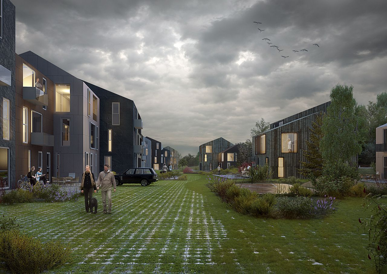 Vedbæk Dinamarca 1st Prize chosen consultant | Pictury Architectural Visualization