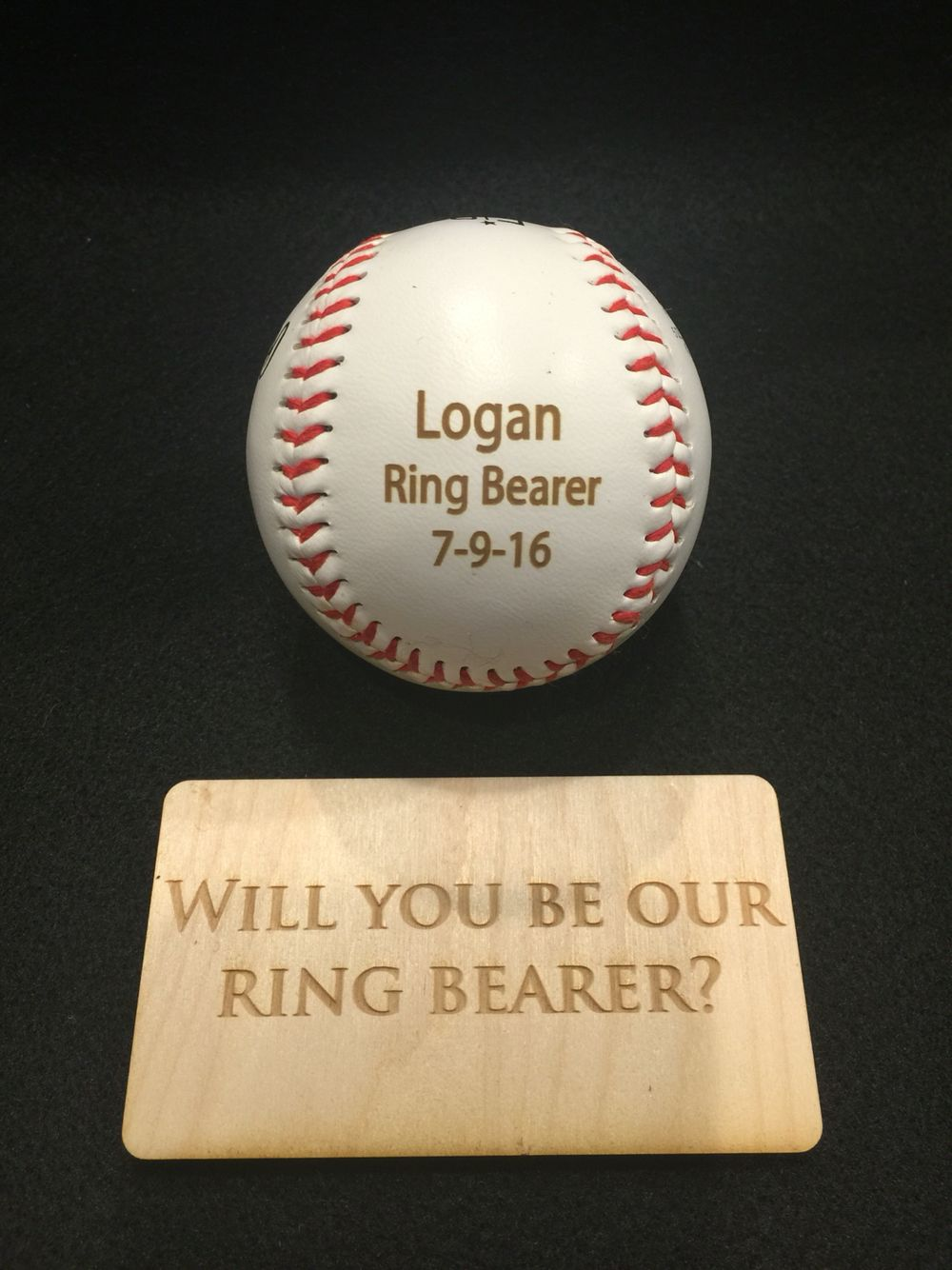 Adorable Way To Ask Your Ring Bearer Be Apart Of The Wedding Engravemymemories: Baseball Wedding Ring Bearer At Reisefeber.org