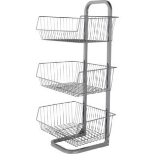 Buy Argos Home 3 Tier Vegetable Stand | Kitchen shelves and ...