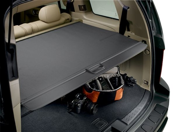 Honda Pilot Cargo Cover With Power Tailgate Gray