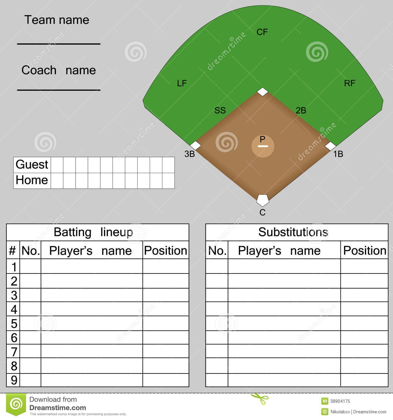 T Ball Field Diagram Printable 2001 Mitsubishi Montero Sport Belt Image Result For Youth Baseball Lineup Team Mom