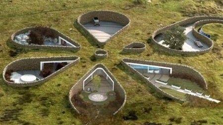 diseos de casas ecolgicas vivienda bajo tierra