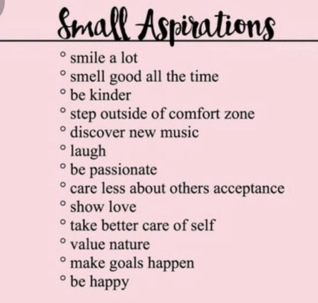 Small Aspirations
