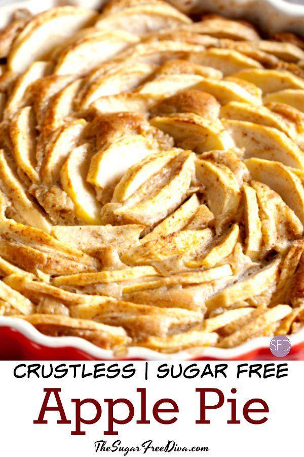 Ohne Zuckerzusatz Crustless Apple Pie    - Healthier is better -