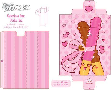 sc 1 st  Pinterest & Pocky Stick Box | Template Box and Label paper Aboutintivar.Com