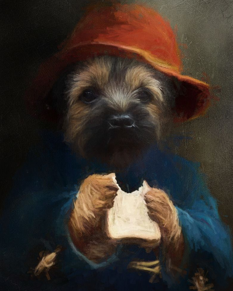 Angus The Border Terrier Paddington Bear Inspired By Lorraine