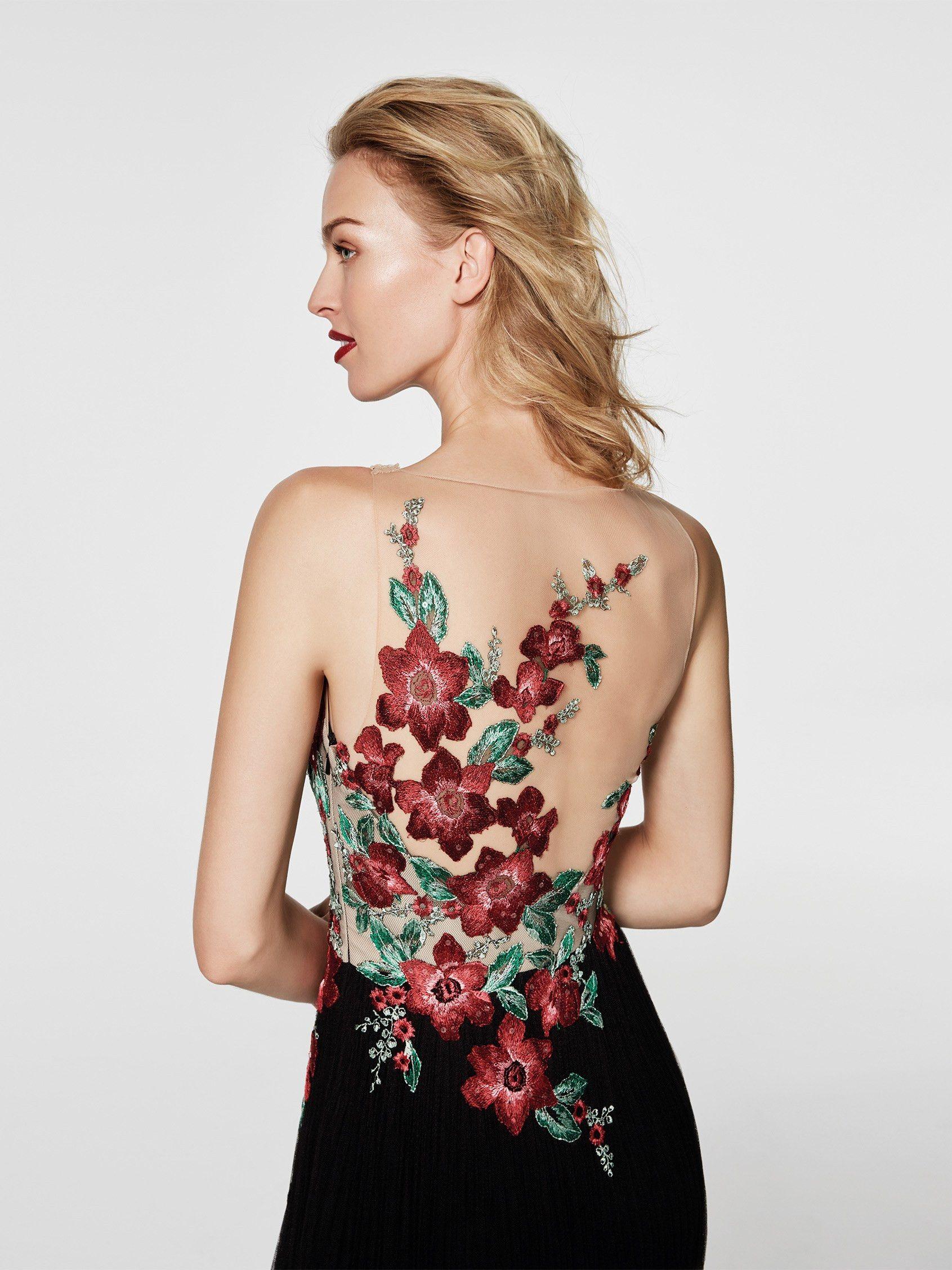 Resultado De Imagen Para Espalda De Vestidos De Tul Bordado