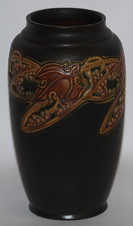 Roseville Pottery Rosecraft Vintage Brown Vase from Just Art Pottery