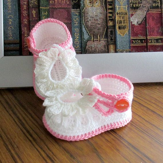 Crochet baby sandals,Crochet girls sandals,Baby sandals,Crochet ...