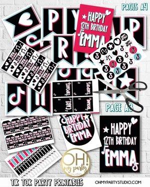Tik Tok Party Decorations Party Printables Party Decorations Birthday Party