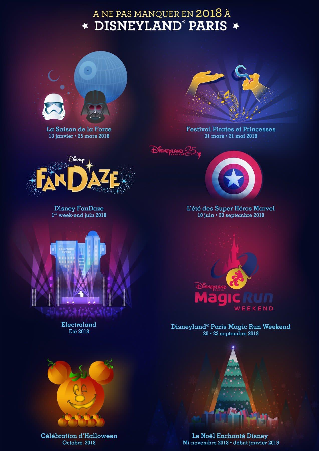 brochure disneyland noel 2018 All the Seasons and Festivals for Disneyland Paris 2018. | Disney  brochure disneyland noel 2018