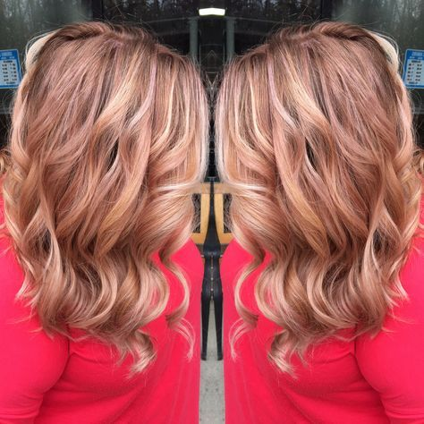 hair copper blonde highlights rose gold 59 ideas for 2019