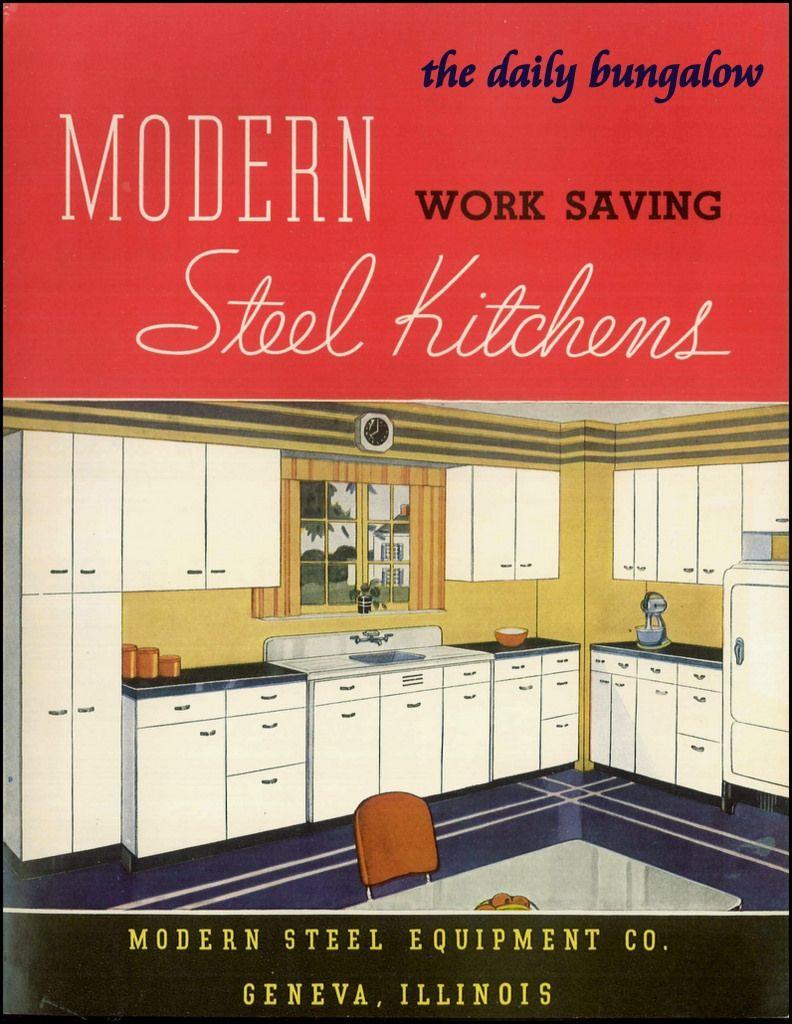 Modern Steel Kitchens Kitchen Furnishings Retro Kitchen Vintage Kitchen
