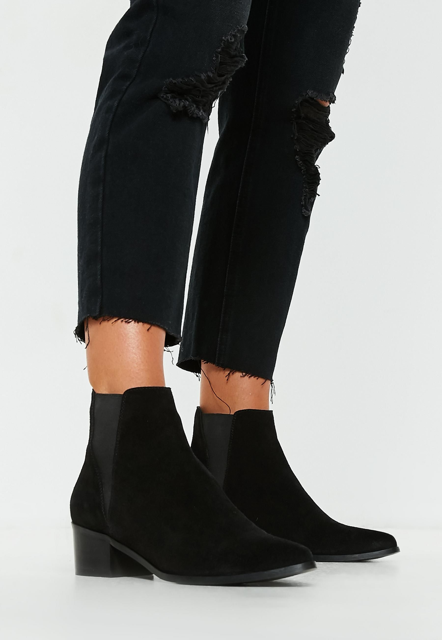Suede Chelsea Ankle Boots   Missguided