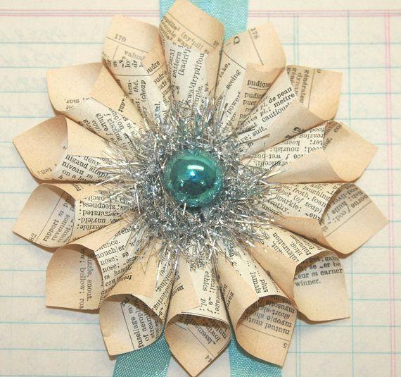 Small paper cone wreath ornament