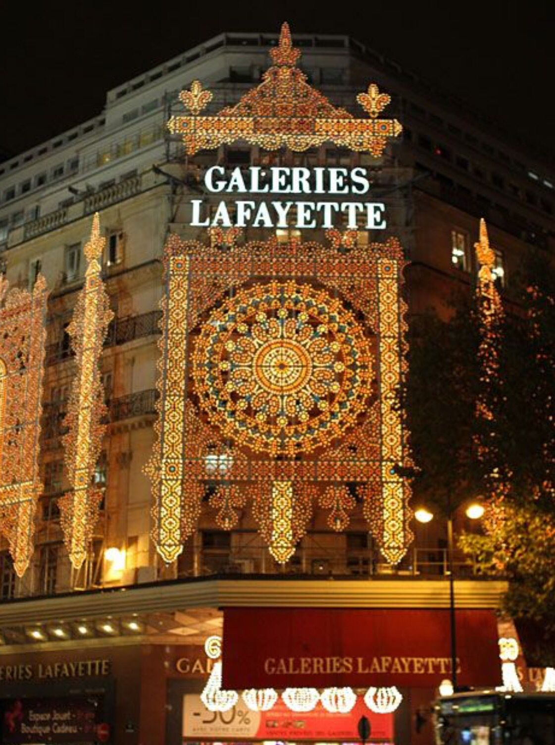Day 2.  Head up to galleries Lafayette the beautiful shopping centre (the Parisian harrods)