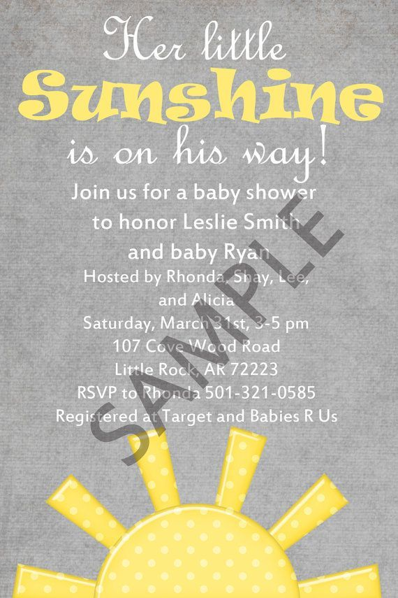 You Are My Sunshine Baby Shower Templates   Google Search