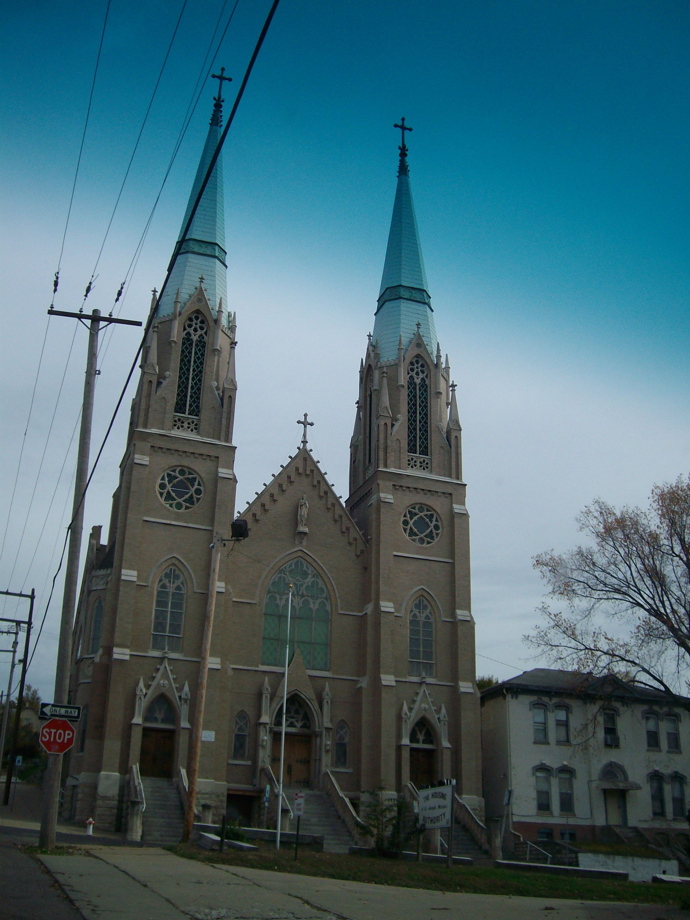Indiana st joseph county wyatt - If You Drive Downtown You Can T Miss This Historic Church Twin Spires St Joseph