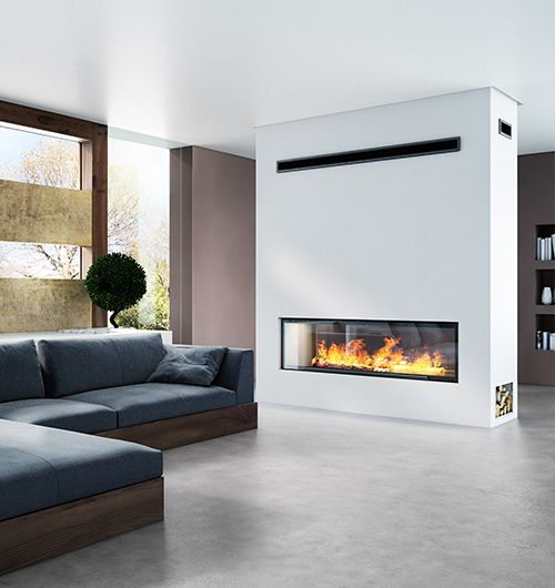 Axis H1600xxl Ds Largest Double Sided Fire Sculpt Fireplace Collec Double Sided Fireplace Wood Heater Fireplace Design