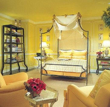 a very yelloworange bedroom featuring niermann weeks loire canopy bed niermannweekscom - Yellow Canopy Interior