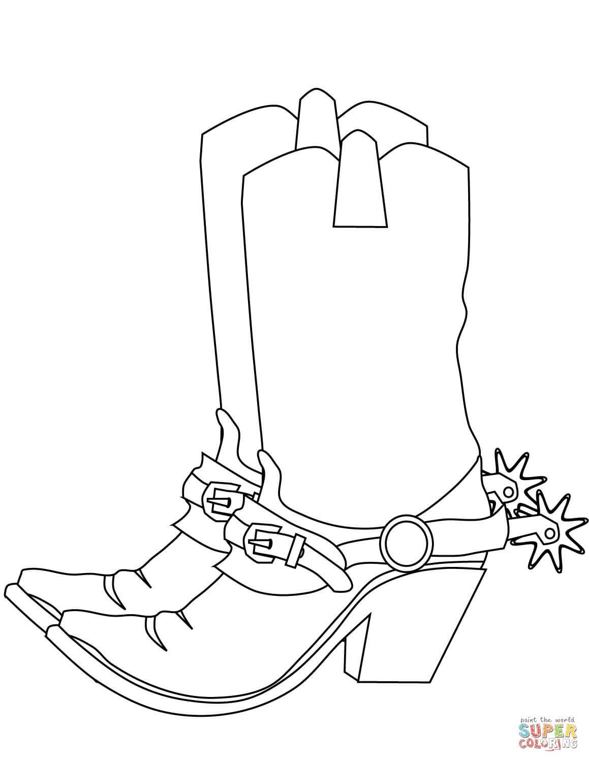 Cowboy Coloring Pages |Small Cowboy Hat Coloring Page