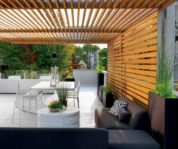 Superior Terrace Canopy Wooden Exotic Design