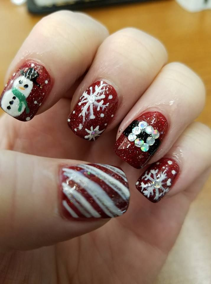 MY CHRISTMAS NAILS 2017 | Nice Nails Ain\'t Cheap and Cheap Nails Ain ...
