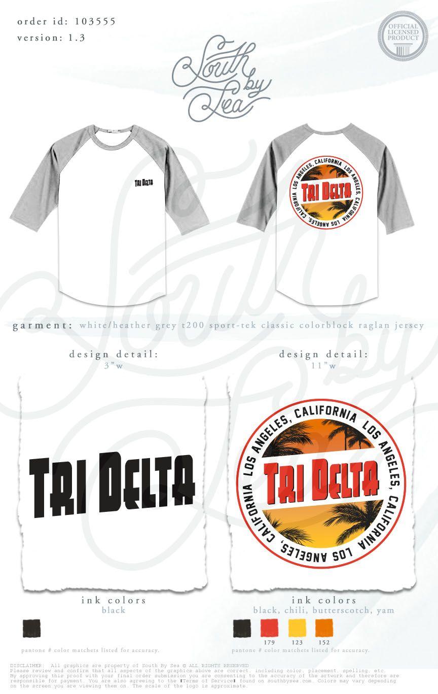 Shirt design los angeles - Tri Delta Delta Delta Delta Los Angeles Ca Tropical T Shirt