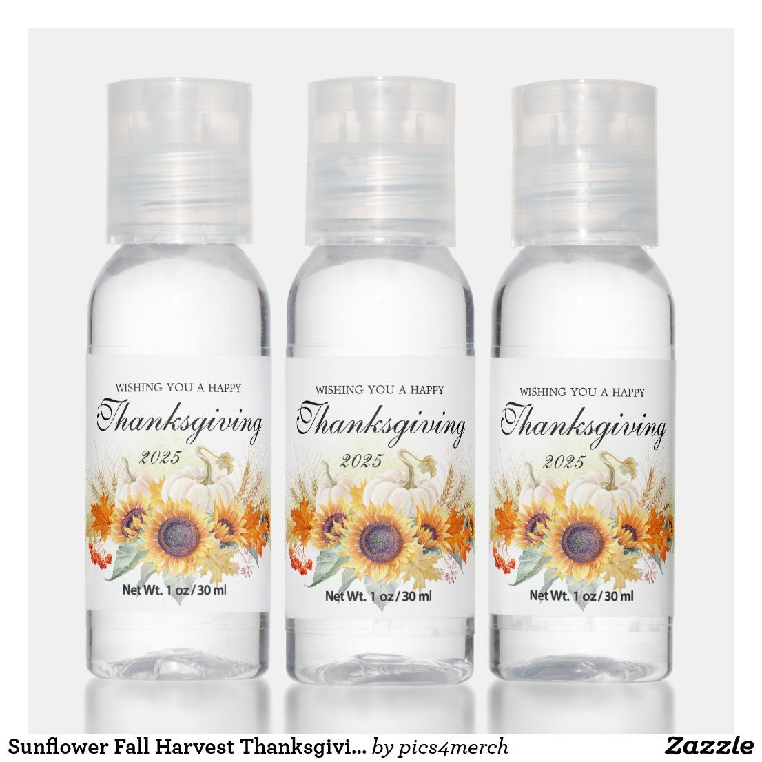 Sunflower Fall Harvest Thanksgiving Party Favor Hand Sanitizer Zazzle Com In 2020 Thanksgiving Party Favors Thanksgiving Parties Hand Sanitizer