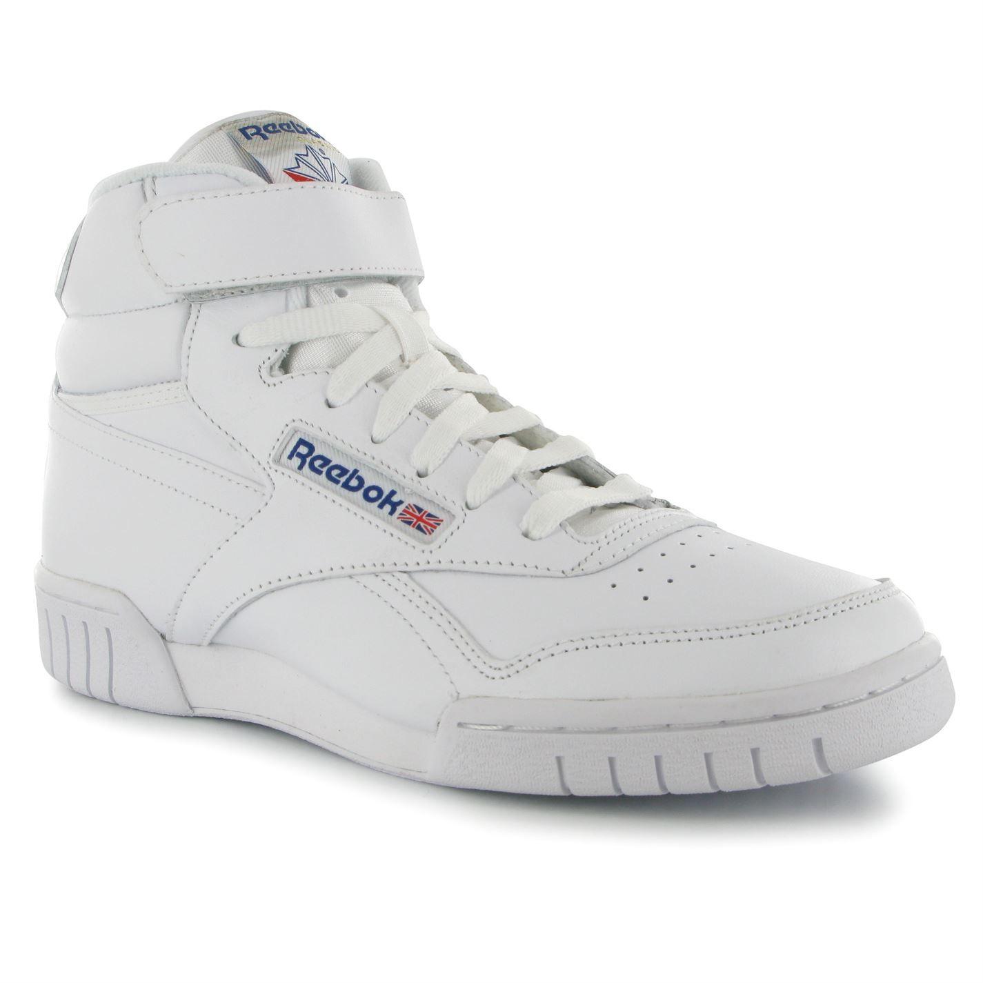 all white reebok high tops