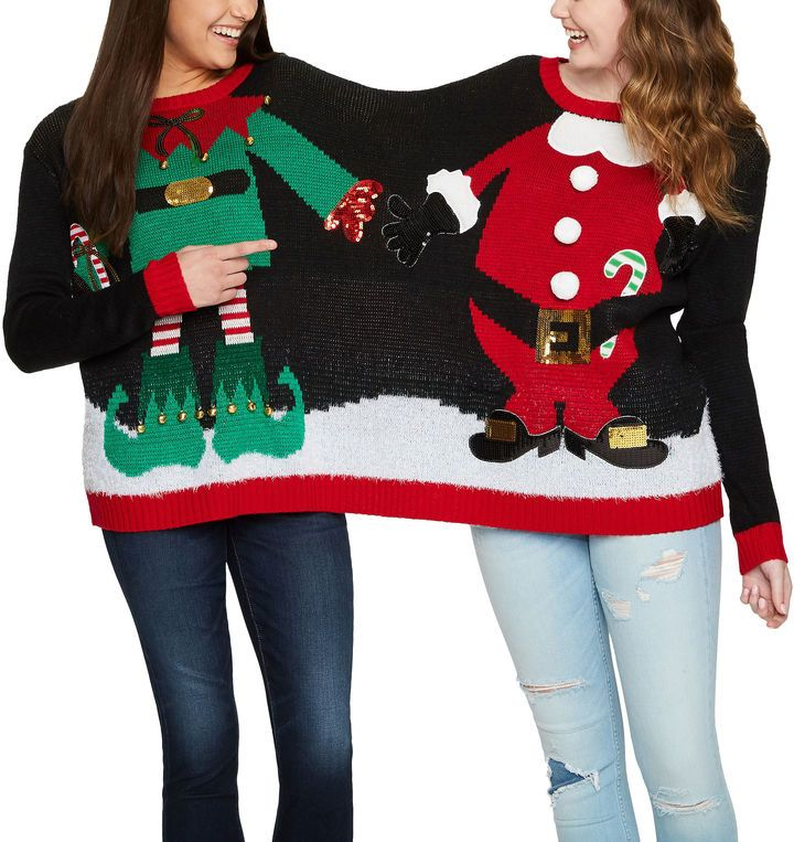 IT S OUR TIME Two Person Ugly Christmas Sweater-Juniors | Fashion ...