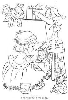 Little Miss Christmas Santa Paginas Para Colorir Natal