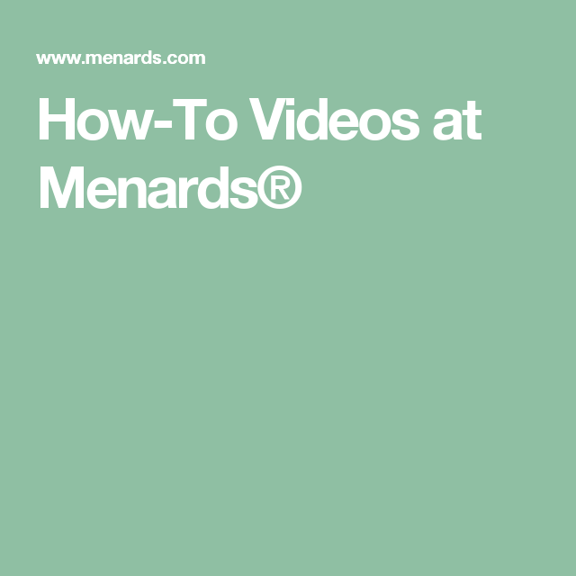 How To Videos At Menards Menards Flower Pot Art Diy Fountain